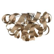 Rawley 5 Light Flush Fitting in a Brushed Satin Copper Twisted Decoration - där RAW0564